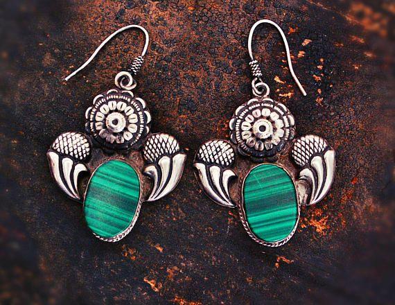 Tribal Gypsy Indian Earrings  Rajasthan Silver BY COSMIC NORBU