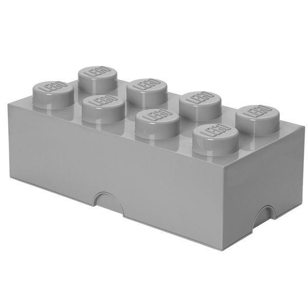 LEGO Storage Brick 8er Grau XXL Aufbewahrungsbox Kiste Dose stapelbar