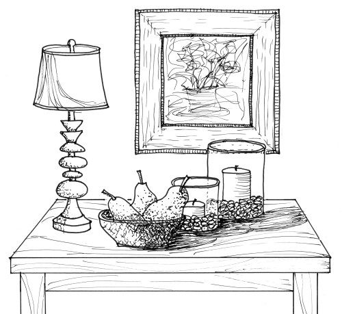 Line Drawing Table : Images about colorir interiores on pinterest
