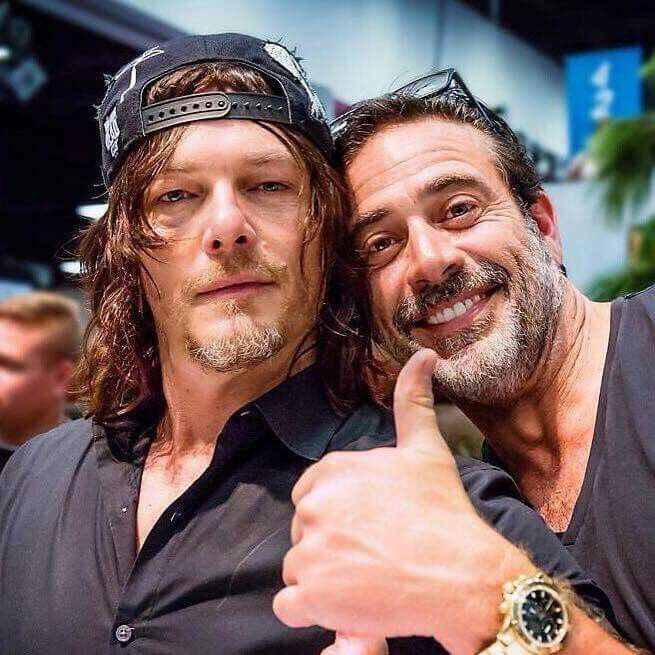 Norman Reedus and Jeffrey Dean Morgan.The Walking Dead.