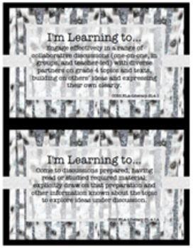 Common Core English Language Arts Posters – 4th Grade {Snowy Birch Trees} $
