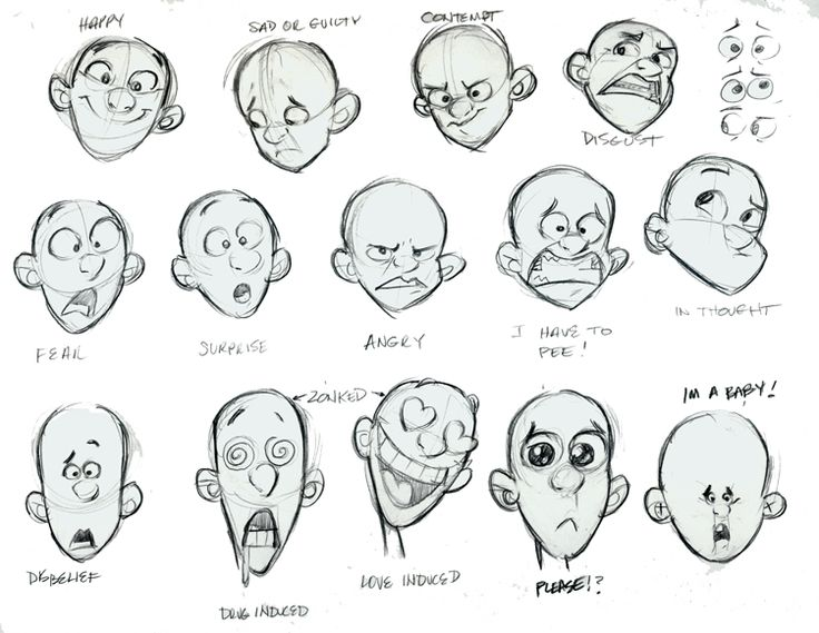 DoddleCharacter Design References How To Draw A Cartoon Face