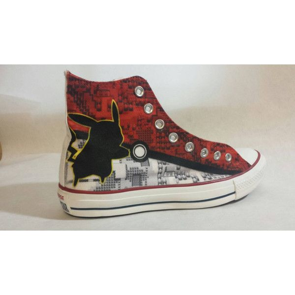 Pokemon Custom Converse All Stars ($122) ❤ liked on Polyvore featuring shoes,  converse