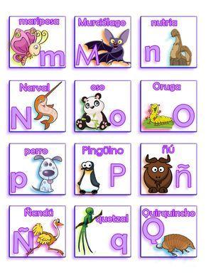 Les dejo una lotería de letras y animales que hice, son varias tablas diferentes y al final pondré las que tienen todas las letras ordenadas...