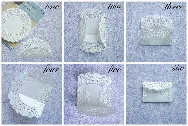 Google Search result - Paper doily into mini envelope