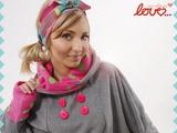 neon pastell polka dot cosy fleece poncho from mydearlove