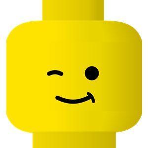 winking lego face