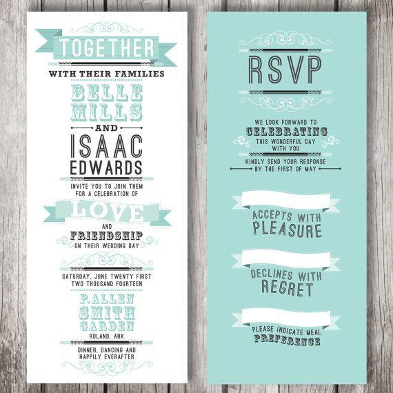 14 best invitations cards Tiffany Blue Wedding ideas for