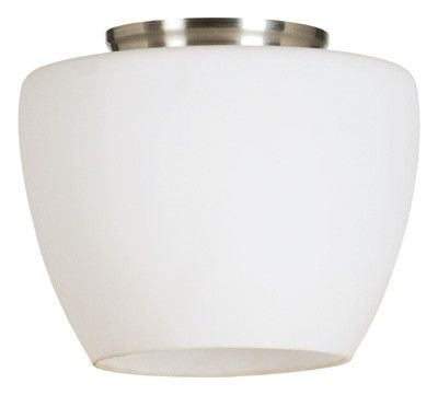 Beacon Lighting - Trish small do-it-yourself batten fix in satin nickel finish with opal glass