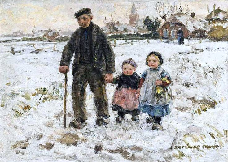"""Johann Jan Zoetelief Tromp, """"A Winter Walk with Grandpa"""""""