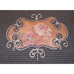 COAT wrought iron. Flowers. cm 75 x 60. 733