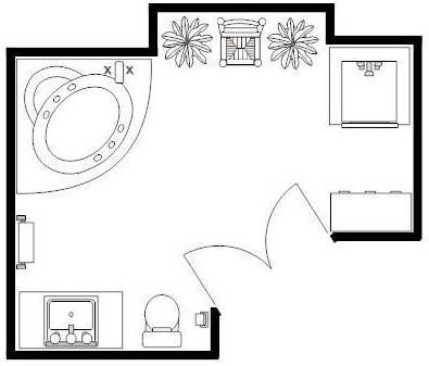 1000 images about bathroom floor plans on pinterest for Small 1 2 bathroom layout