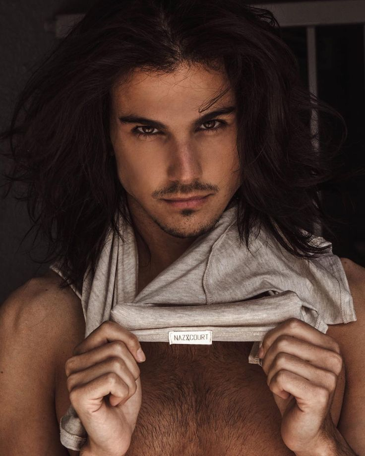 Sexy long haired men