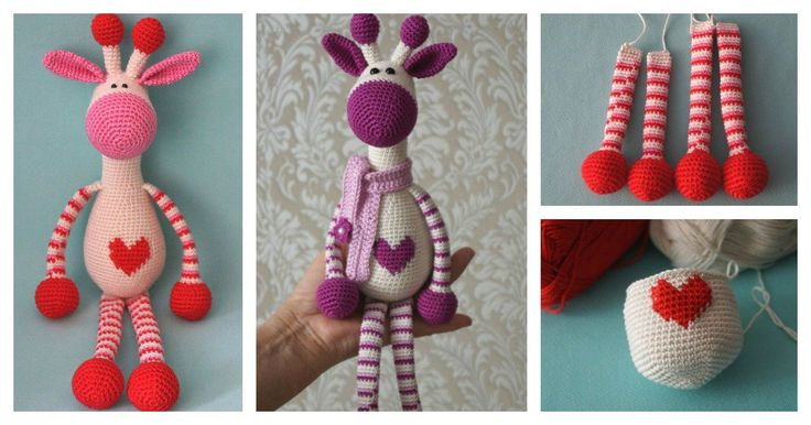You can make a sweet giraffe as a friend for a loved one in your life with this Adorable Crochet Hearty Giraffe Amigurumi Free Pattern.