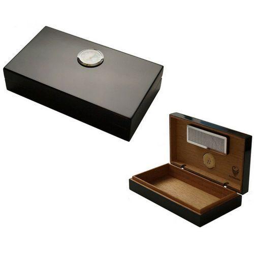 Mini Cigar Box Humidor Humidifier Tobacco Holder Storing Cigars Hygrometer