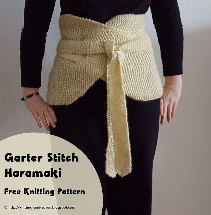 Garter Stitch Haramaki - Free Knitting Pattern by Knitting and so on