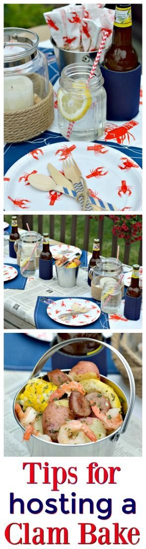 Plan and decorate for a Clam Bake-themed party with these tips! theblueeyeddove.com