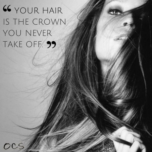 Your Hair is the crown you never take off - keep it shining. #HairStylistLife