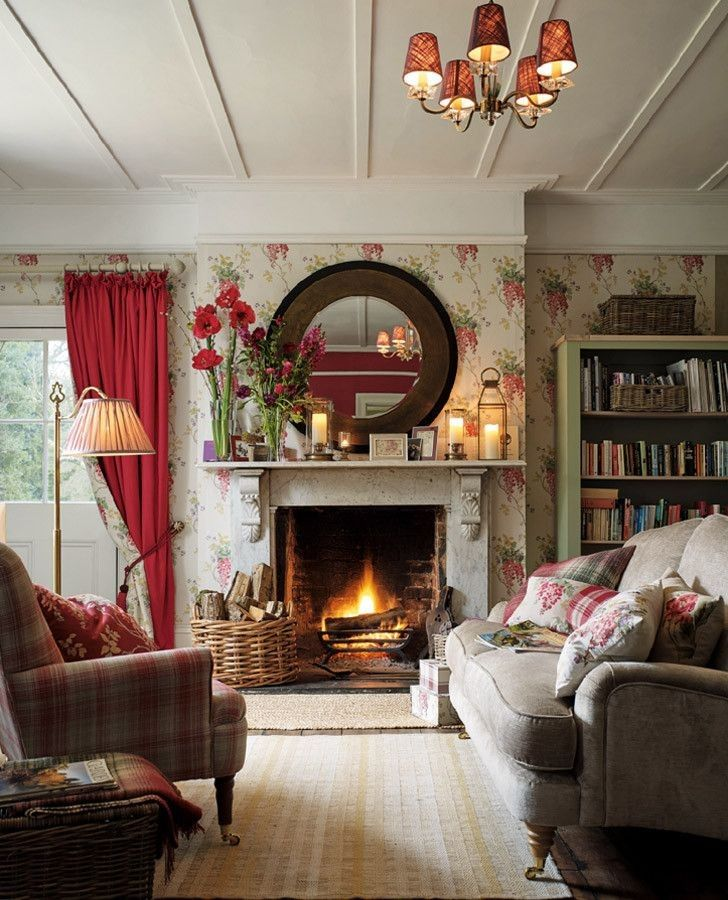 40 Cozy Small Living Room Ideas For English Cottage The Urban Interior Country Living Room Design Country Living Room Cottage Living Rooms
