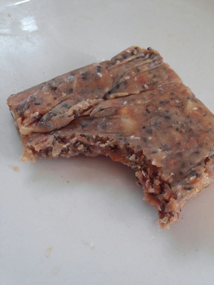 Peanut butter maple chia coconut energy bars, oh my! - Low Carb - These things are awesome. They're filling, sweet, and mapley. And they're so easy to make, and grab on the go! How could you go wrong?