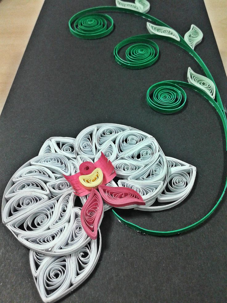 Quilled orchid to decorate an envelope. Love, Alina Papercrafted <3
