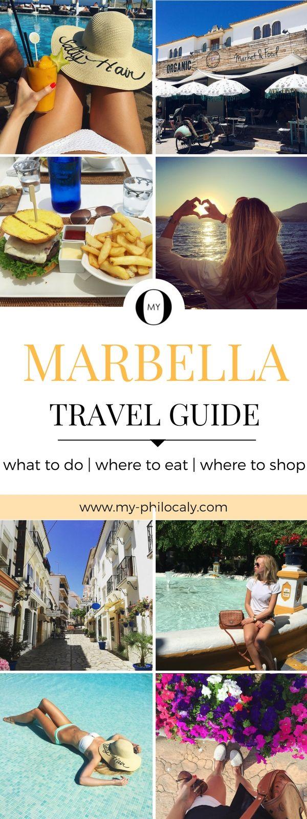 Entdecke Marbella! Was du unbedingt unternehmen solltest, wo man am besten essen kann und wo du am besten shoppen kannst, erfährst du in diesem Marbella Travel Guide. Sightseeing, Shopping, Restaurants in Marbella und Umgebung.