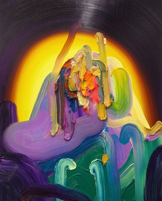 Erin Loree's Vibrant Abstract Paintings Seem To Glow From Within