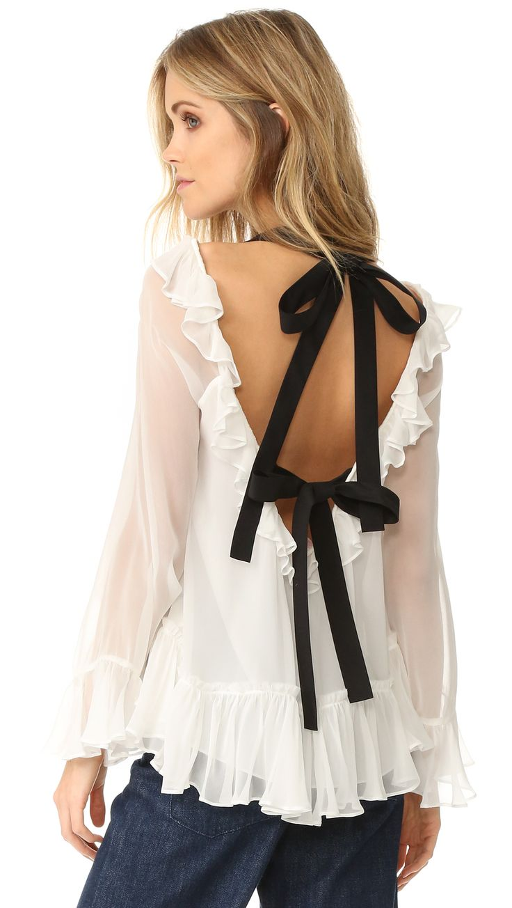 Black and White Amina Blouse- perfect with jeans for date night or Valentine's Day