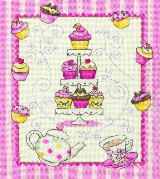 Cupcake Cross Stitch Kit £16.75 | Past Impressions | Anchor