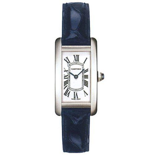 Cartier Tank Americaine 18 kt White Gold Ladies Watch W2601956.