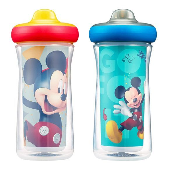 The First Years Disney Mickey Mouse Insulated Sippy Cup 9 Oz 2pk Multi