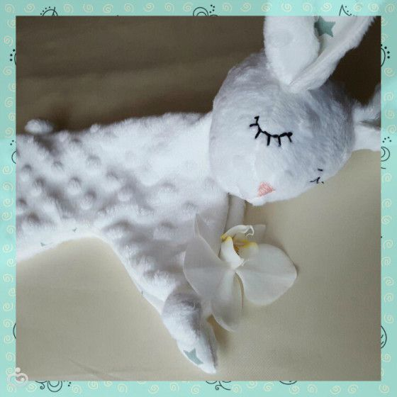 Зайка-комфортер для малышки. Сделано вручную умелыми ручками Натальи из Можайска