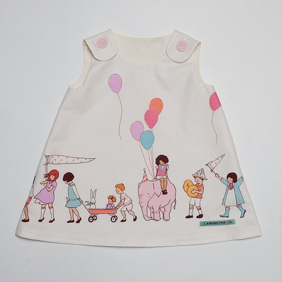 Party Dress  Size 12 to 18 Months by LamonsterShop on Etsy, $30.00  Grandma, Ewa needs this dress for her 2nd birthday!