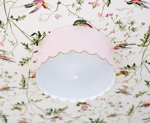 Sharing a recently completed nursery on the blog. This scalloped fixture is a favorite detail and a sweet start to the day!