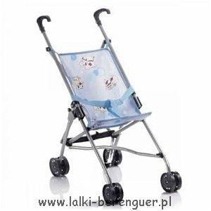 Wózeczek dla lalki, parasolka - krówki
