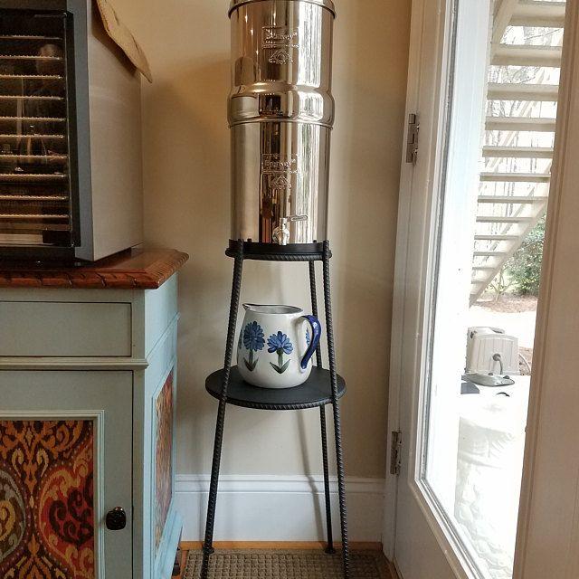 Berkey Water Filter Floor Stand Etsy In 2020 Berkey Water Berkey Water Filter Coffee Table Kitchen