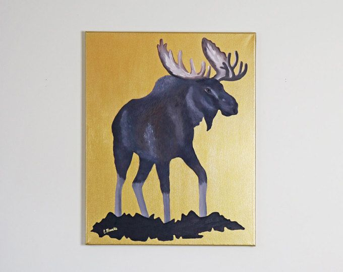Canadian Moose Original Acrylic Painting  Browse unique items from WildNorthCreations on Etsy, a global marketplace of handmade, vintage and creative goods.