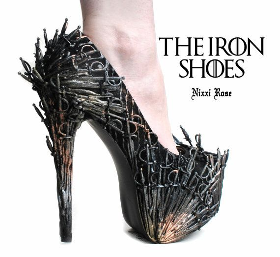 After much careful thought (and persuasion from you guys!) I have decided to release my GOT heels for sale.    I originally made them as a one-off art