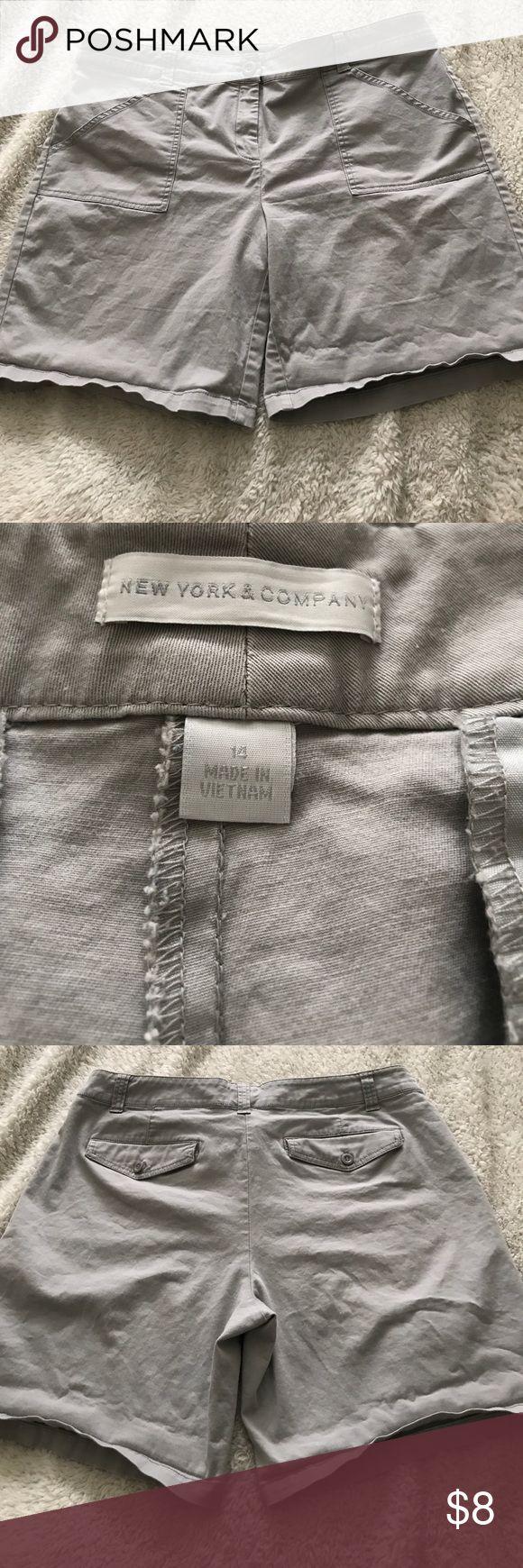 NYC Shorts Women's grey shorts. 7.5 inche inseam and size 14 New York & Company Shorts
