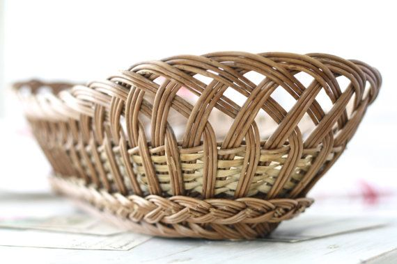 LONG. French vintage basket oval. French bakery от Passesimple