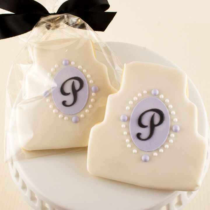 Wedding Dress or Cake Sugar Cookies - via Etsy.