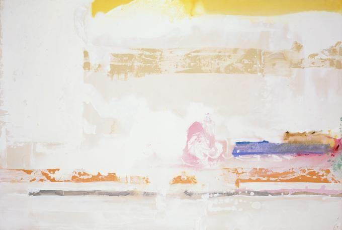 Helen Frnkenthaler, Snow Basin, 1990, Acrylic on canvas 63 3/4 x 95 inches  (161.9 x 241.3 cm)