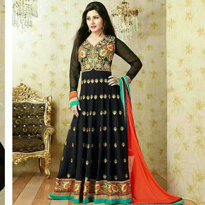Black georgette #outfit this #diwali.... www.themagicalthread.com