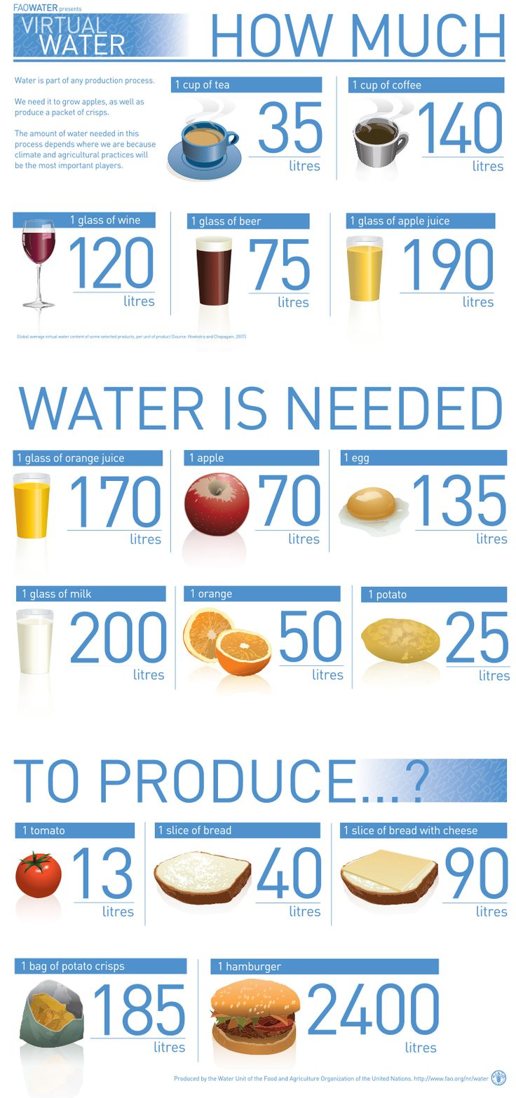 How Much Water Is Needed To Produce...? Water Is Part Of