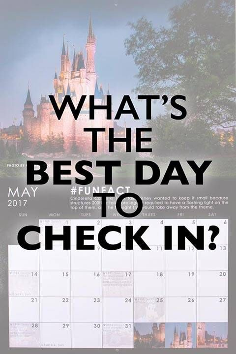 When is the Best Day to Check into Disney calendar graphic