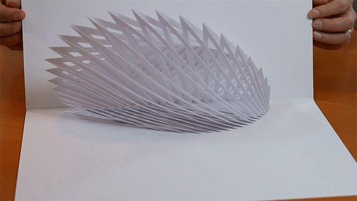 Designer cria engenhosas esculturas dobráveis de papel