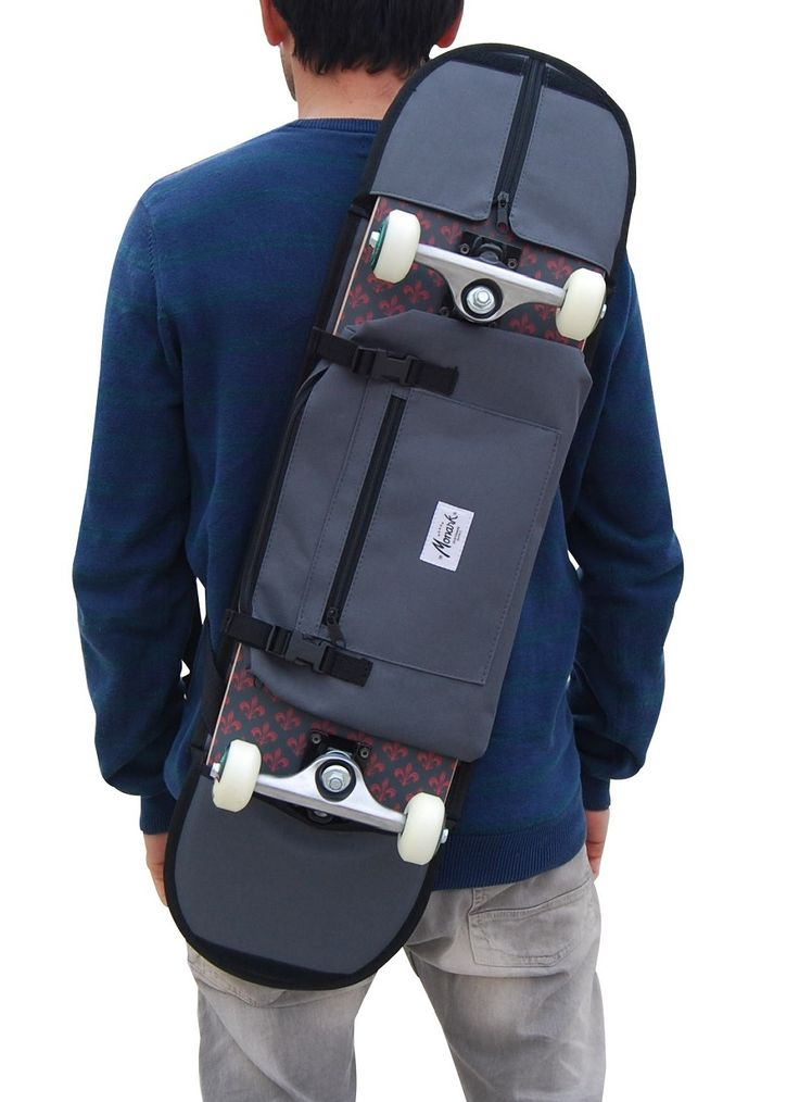 "SKATEBOARD SHOULDER BAG 8.1"" - 8.5"" Black"