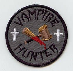 http://etsy.me/2zTrJt5  #etsy shop: Vampire Hunter patch Sew on Patch applicae patches for jackets sweatshirts denim bags mini patches patches for jeans http://etsy.me/2CJGdOd #accessories #patch #grey #black #badgepatch #applicaepatch #sweatshirtpatch #patchesforbags