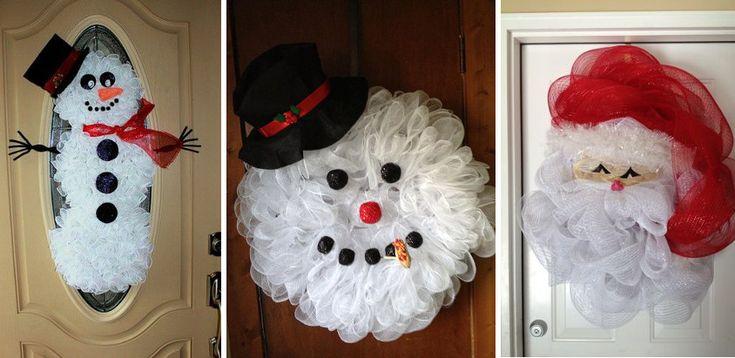 12 decoratiuni de Craciun realizate din tull si organza, pentru un plus de veselie in casa ta la ceas de Sarbatoare. Amenajari de Craciun.
