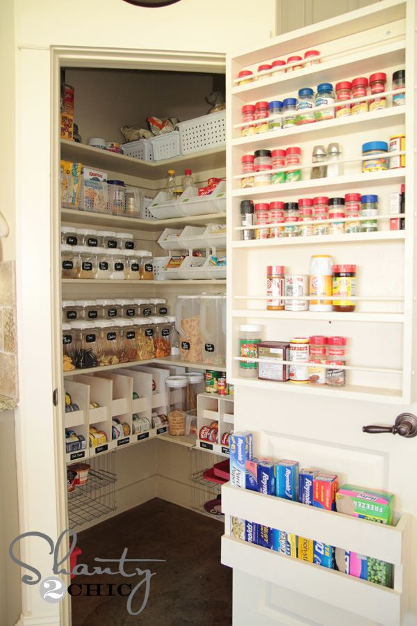 Ridiculously organized pantry, with tutorial for how to make canned food organizers!! I want this!